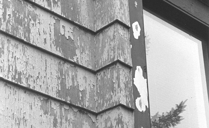 Cracked and peeling siding