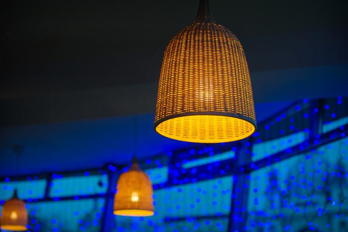 Rattan Lamp for natural lighting