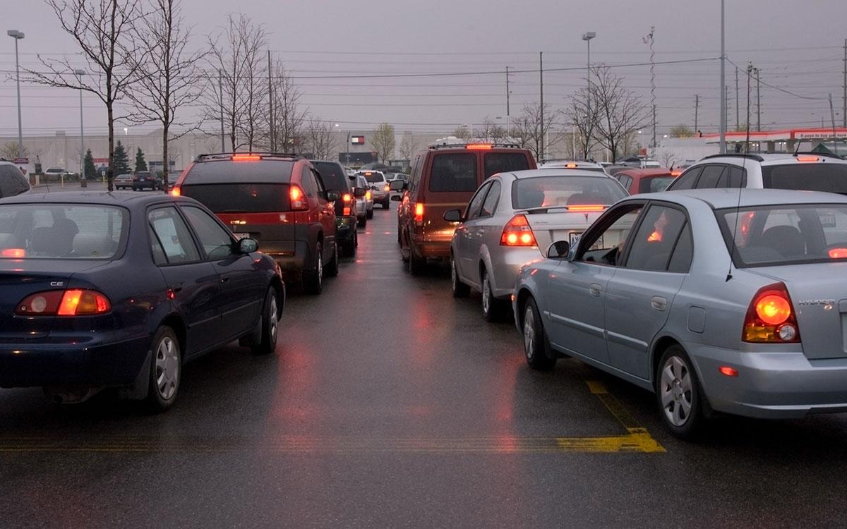 cars idling