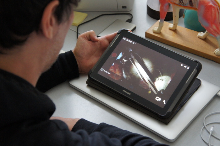 Watch the inspection on a tablet