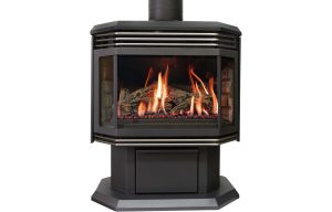 seattle fireplace Archgard 45 freestanding nickel