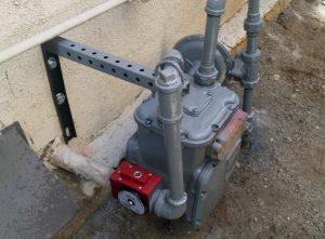 earthquake valve installed