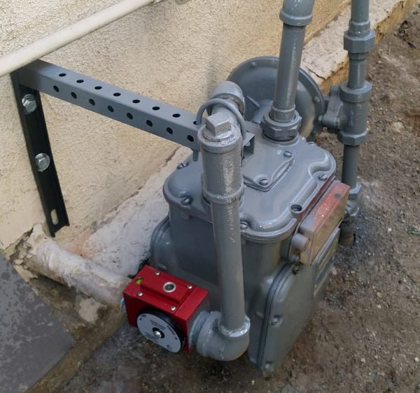 earthquake valve installed