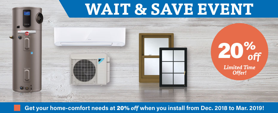 Sales on Boilers, Air Conditioning & More!